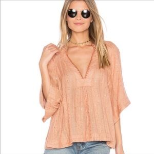 FREE PEOPLE / CREAM GET OVER IT BLOUSE